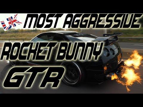 Knight Racer Rocket Bunny R35 GTR KR650 Flames!