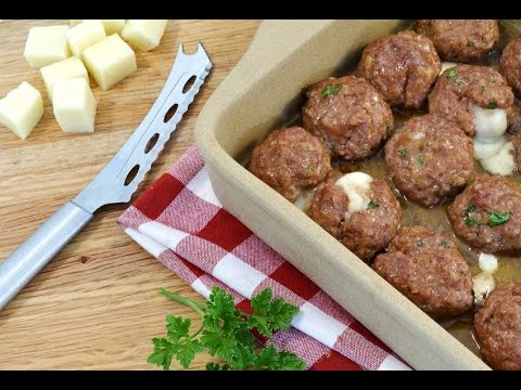 Cheese Stuffed Meatballs Recipe | RadaCutlery.com
