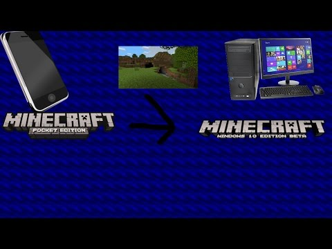 How to put Minecraft PE world to Minecraft windows 10 edition {How to}