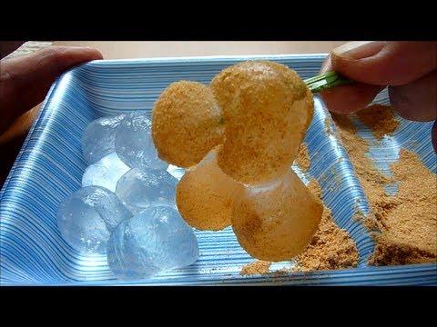 Eating Japanese sweets Wagashi