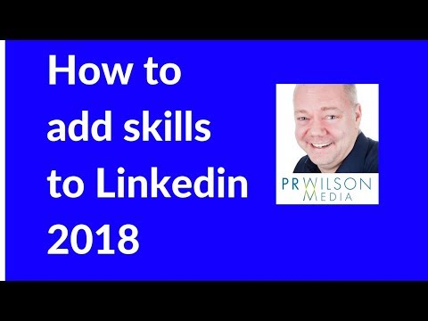 How to add skills to Linkedin 2018