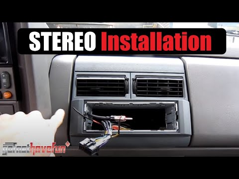 Head Unit / Stereo / Deck Installation / Install (SOLDERING Connections)