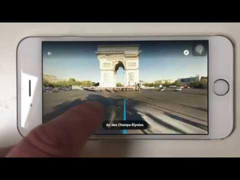 Nouvelle navigation Street View dans Google Maps iOS