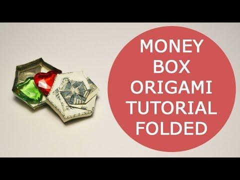 Money Box Folded Origami Dollar Tutorial DIY