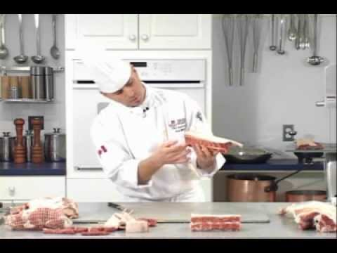 How to cut a basic lamb rack and frenched lamb rack