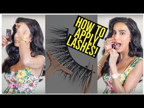How to Apply Lashes | Lilly Ghalichi Mir