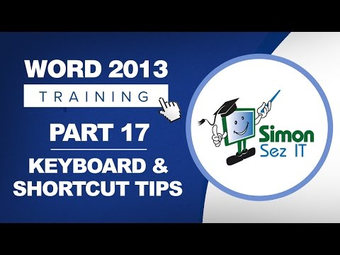 Word 2013 for Beginners Part 17: Using Keyboard Shortcuts and Key Tips in Word 2013