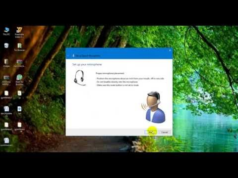 How to enable speech recognition in windows 10
