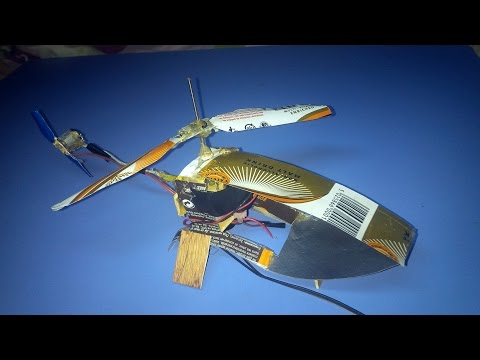 Finally, How to Make a Helicopter that Flies at Home with Aluminium Can