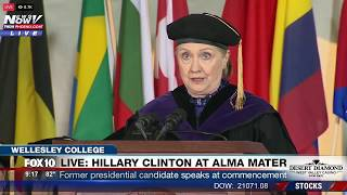 WATCH: Hillary Clinton Delivers Commencement Speech at Wellesley College, Her Alma Mater