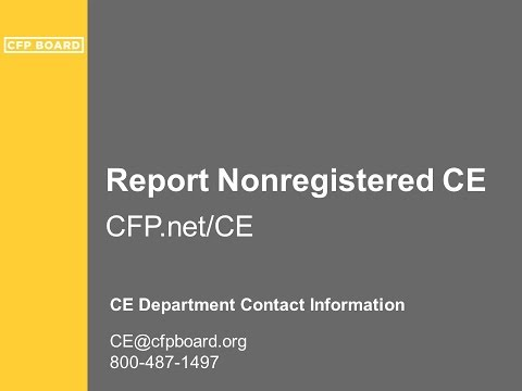Reporting Nonregistered Continuing Education Credits