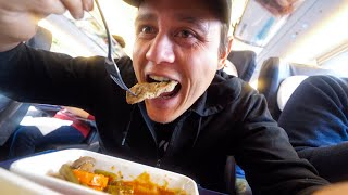 Russia Train FOOD REVIEW - Moscow to Saint Petersburg | High-Speed Sapsan Express!