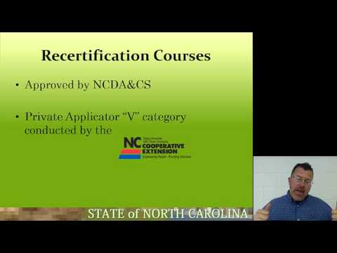 NC Pesticide Applicator Certification and Licensing