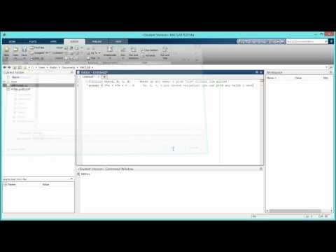 How to Create a Function File with Variables in MATLAB. [HD]