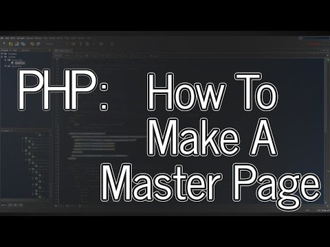 Tutorial: Website 01 - How to make a PHP master page