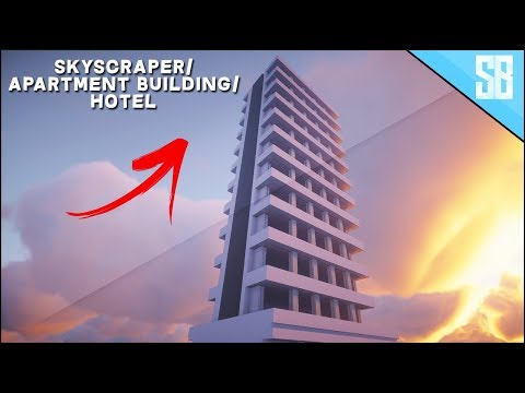 Minecraft: Lets Build - Hotel Tower / Apartment Building ( How to Build Tutorial )