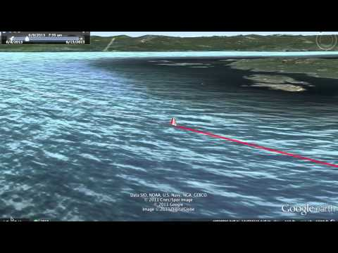 Van Isle Sailing Race Google Earth Track Flyover