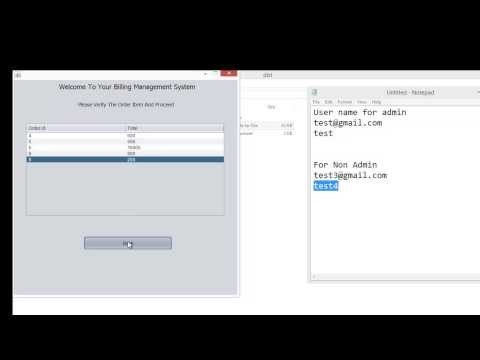 Java Projects :: Restaurant Billing System Project in Java with SRS