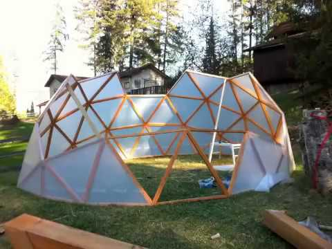2013 3V Geodesic Dome Greenhouse Geodome Polydome Hubless Sqft gardening