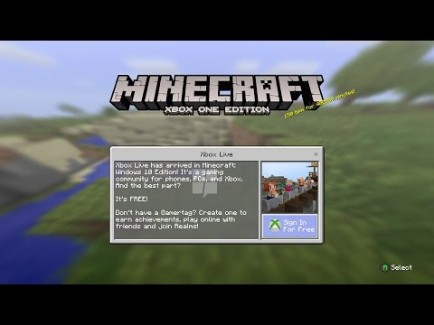Minecraft Windows 10 Becoming Playable on Xbox One [Includes Gameplay]