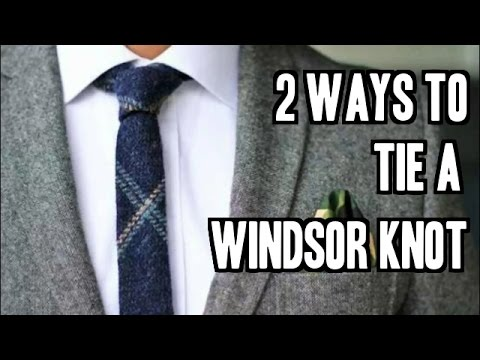 2 Easy Ways To Tie A Windsor Knot Step By Step Slowly