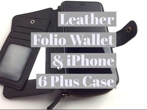Leather Folio Wallet & iPhone 6 Plus Case by BRG