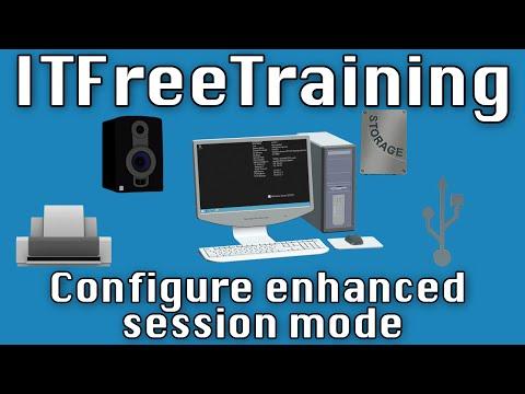 Configure enhanced session mode