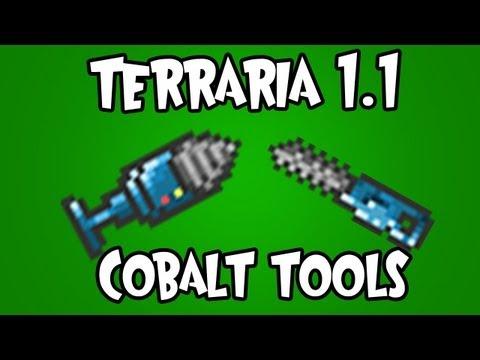 Terraria 1.1 - Cobalt Tools (Chainsaw/Drill)