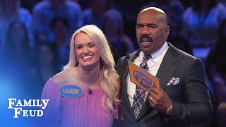 Play Fast Money with Ginny and Todd! | Family Feud - PakVim net HD