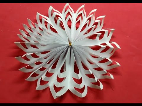 How to make beautiful paper decoration 3D snowflake