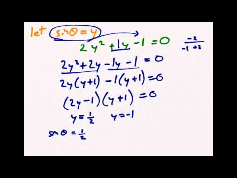 Solving Quadratic Trigonometric Equations