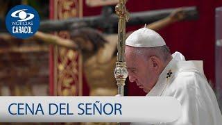 La Cena del Señor santa misa en vivo con el Papa Francisco - Jueves Santo 2020