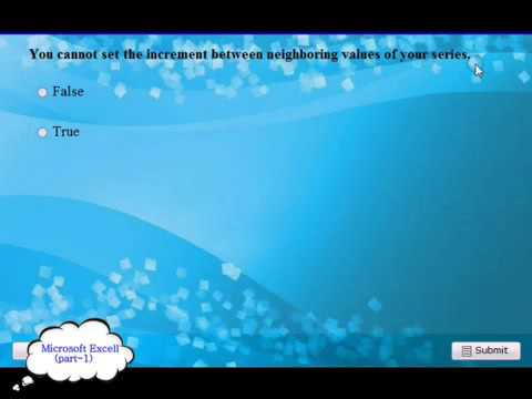 Microsoft Excell 200720102013 2014 Exam Q and A pt 1