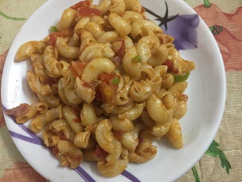 Indian Style Instant Macaroni Recipe- in Hindi