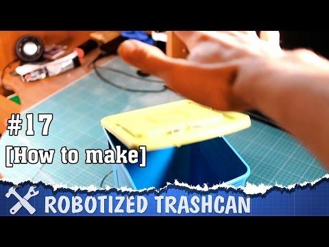 DIY robot trashcan
