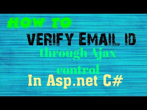 How to use Ajax control to Verify email id  in Asp.net C# | code to verify Email ID through ajax