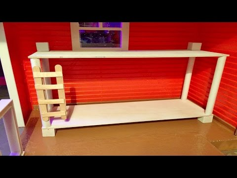 BUNK BED How To Make Tutorial for Doll House Bedrooms ~ We do Monster High Style