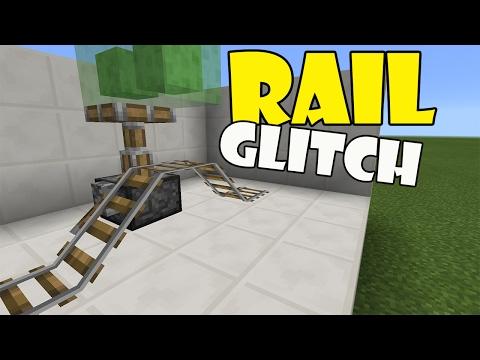 RAIL GLITCH | Minecraft PE (Pocket Edition) MCPE Working Glitch 1.0.4 alpha