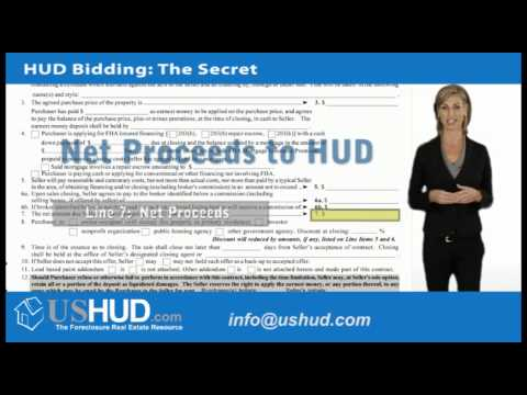 HUD Foreclosure | Bidding on HUD Homes: The Secret
