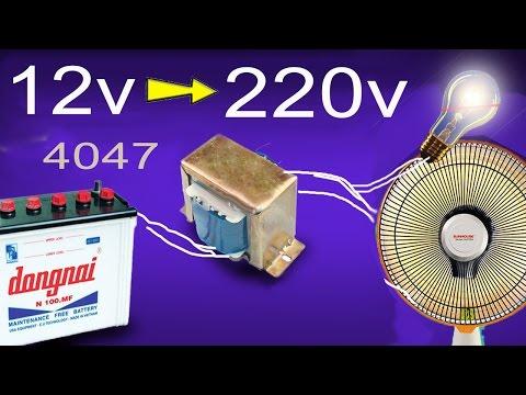 how to make inverter 12v to 220v, simple circuit diagram