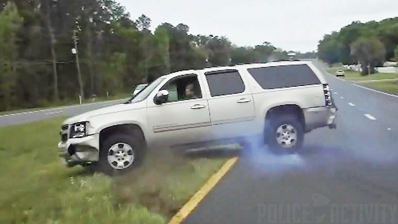 Intense High Speed Sheriff Pursuit Ends With PIT Maneuver in Marion County, Florida