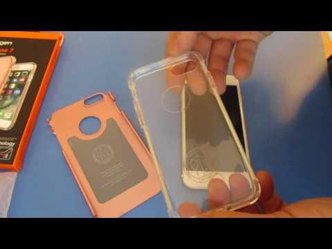 Installing Spigen Iphone 7 Case Air Cushion Technology Hybrid Armor Military Grade installation