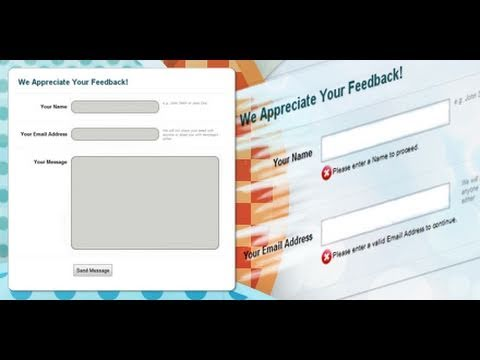 PHP Contact Form and Form Validation   Dreamweaver Tutorial - 2 of 2
