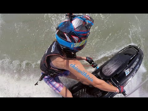 ChixSki: How to Ride a Stand Up Jet Ski - Part 2 Advanced Turning Techniques