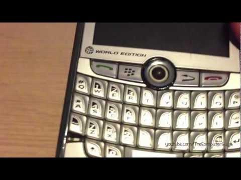BlackBerry 8830 (2007 smartphone used in 2012)