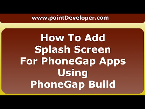 How to add splash screen for phonegap apps using phonegap build