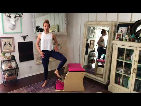 Pilates Standing Press Down Side on the Wunda Chair - Lesley Logan Pilates