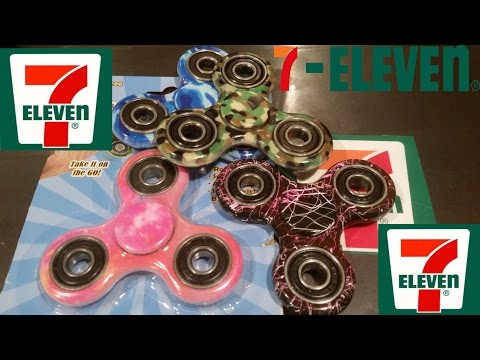 7-Eleven Tie Dye Fidget Spinners unboxing, review, and giveaway.