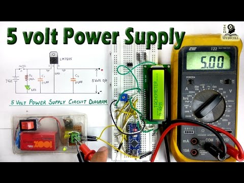 How to use LM7805 regulator in 5 volt dc power supply from 9 volt battery