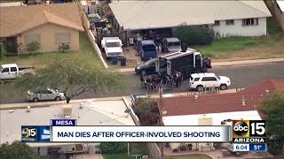 Man dies after officer-involved shooting in Mesa